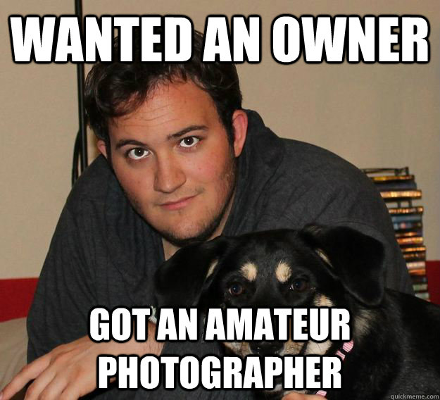 wanted an owner got an amateur photographer -