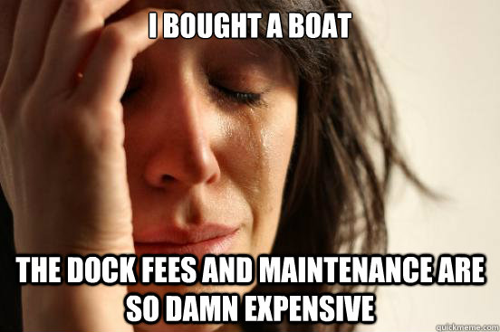 i bought a boat the dock fees and maintenance are so damn ex - First World Problems
