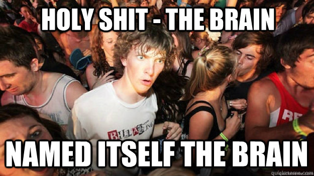 holy shit the brain named itself the brain - Sudden Clarity Clarence