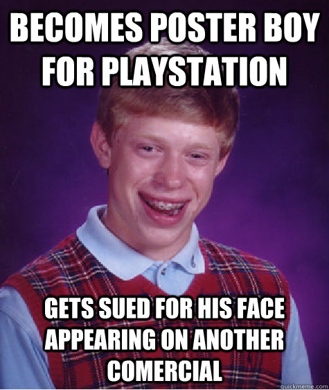 Becomes Poster Boy For Playstation Gets Sued For His Face