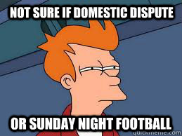 not sure if domestic dispute or sunday night football - Fry futurama