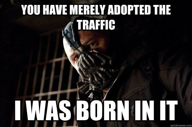 you have merely adopted the traffic i was born in it - Angry Bane