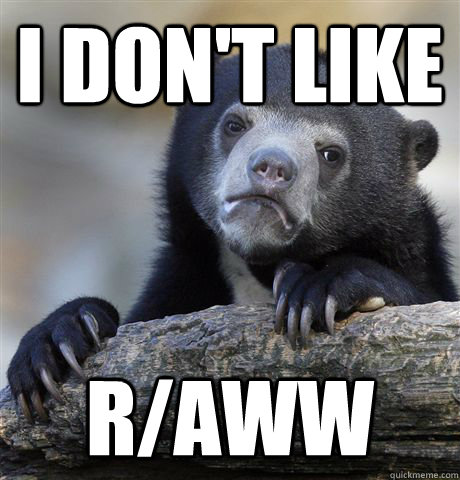 i dont like raww - Confession Bear