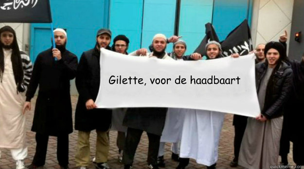 gilette voor de haadbaart - Sharia4captioncontests