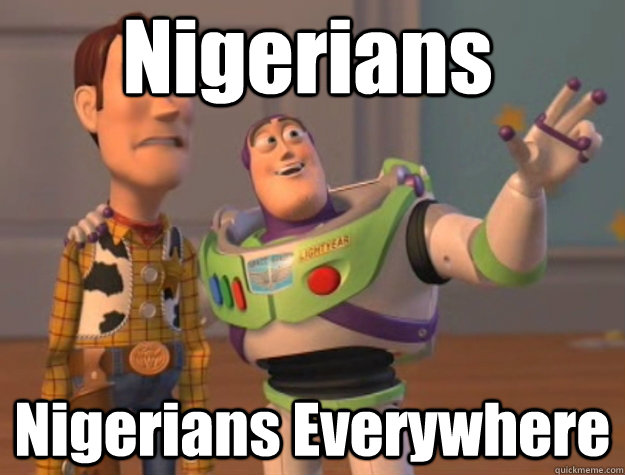 nigerians nigerians everywhere - Pinks everywhere