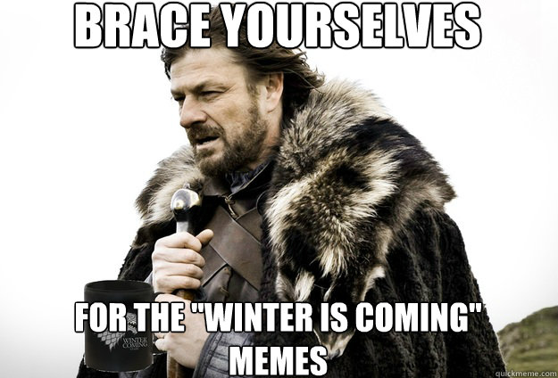 brace yourselves for the winter is coming memes  - Tea break Ned Stark