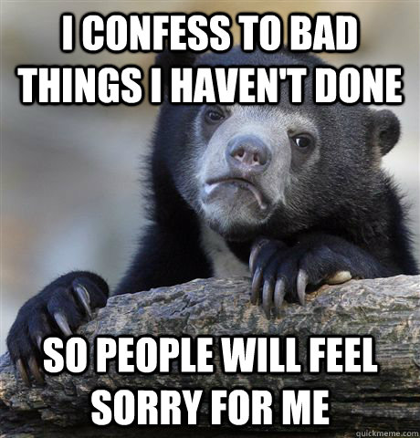 i confess to bad things i havent done so people will feel s - Confession Bear