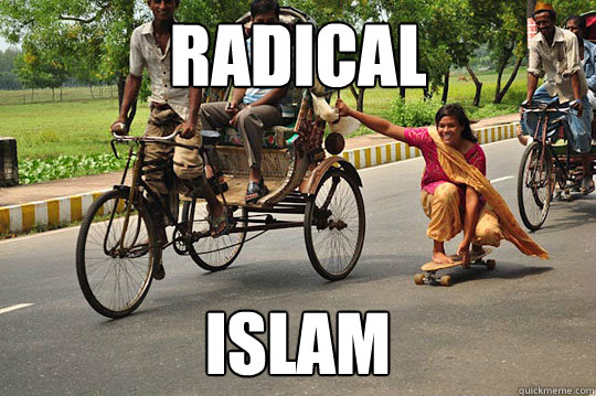 radical islam - skating indian woman