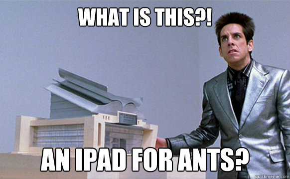 what is this an ipad for ants caption 3 goes here - A center for ants