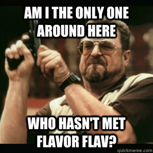 am i the only one around here who hasnt met flavor flav - Am I The Only One Round Here
