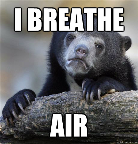i breathe air - Confession Bear
