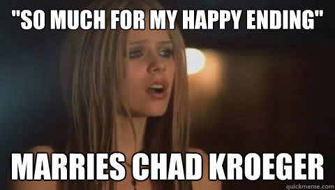 so much for my happy ending marries chad kroeger  -
