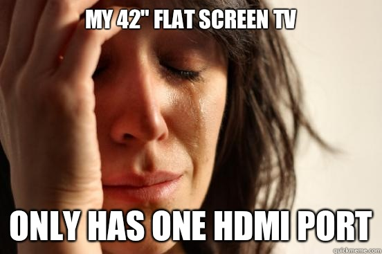 My 42 flat screen tv Only has one hdmi port - First World Problems