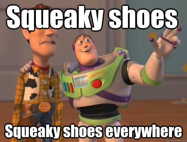 squeaky shoes squeaky shoes everywhere - Pinks everywhere