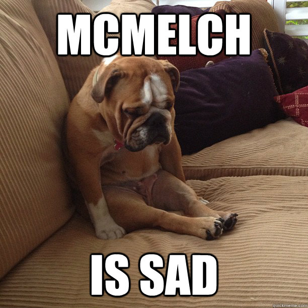 mcmelch is sad - depressed dog