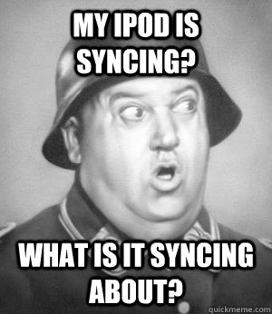 my ipod is syncing what is it syncing about -