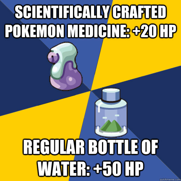 scientifically crafted pokemon medicine 20 hp regular bott - Pokemon Logic
