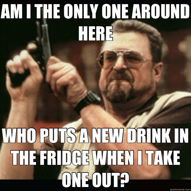 AM I THE ONLY ONE AROUND HERE WHO PUTS A NEW DRINK IN THE FR - Am I the only one