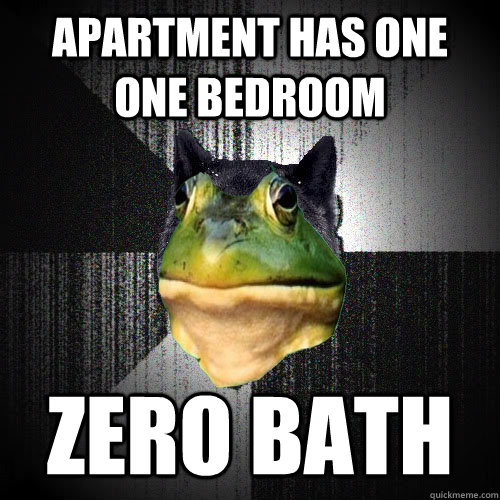 apartment has one one bedroom zero bath - Insanely Foul Bachelor Frog