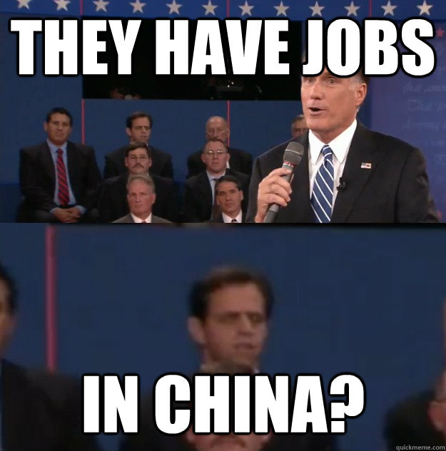 they have jobs in china - Typical Undecided Voter