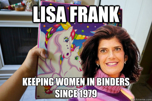 lisa frank keeping women in binders since 1979 - lisa frank binders