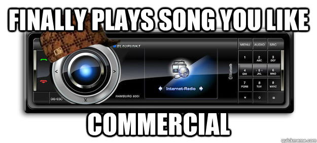 finally plays song you like commercial -