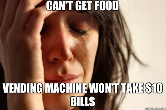 Cant get food is also showing commercial - First World Problems
