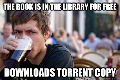 the book is in the library for free downloads torrent copy - Lazy College Senior