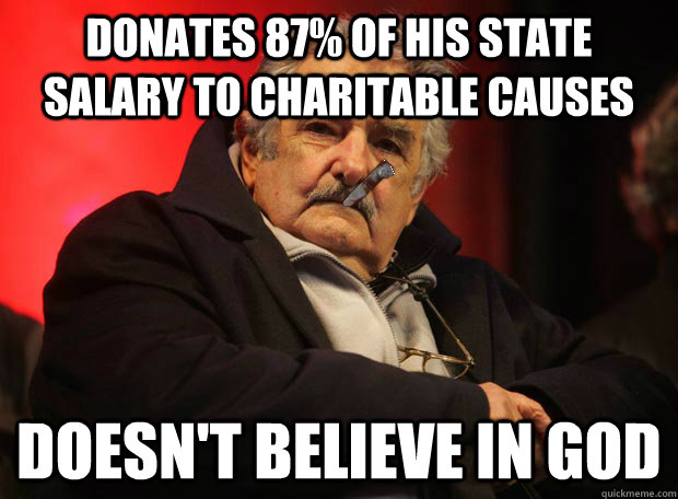 donates 87 of his state salary to charitable causes doesnt - 