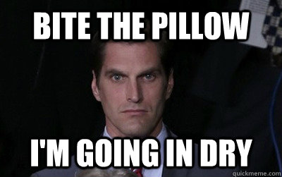 bite the pillow im going in dry - Menacing Josh Romney