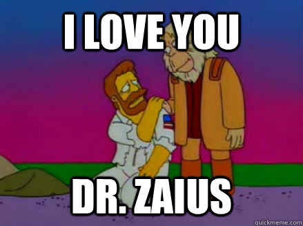 i love you dr zaius - Most Underrated Simpsons Quote