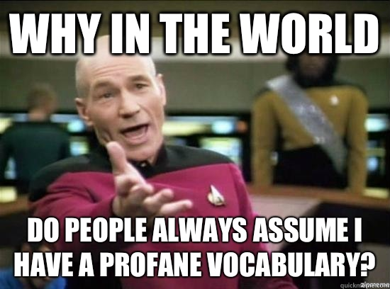 Why in the world do people always assume I have a profane vo - Annoyed Picard HD