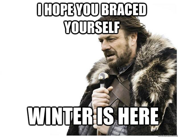 i hope you braced yourself winter is here - Imminent Ned