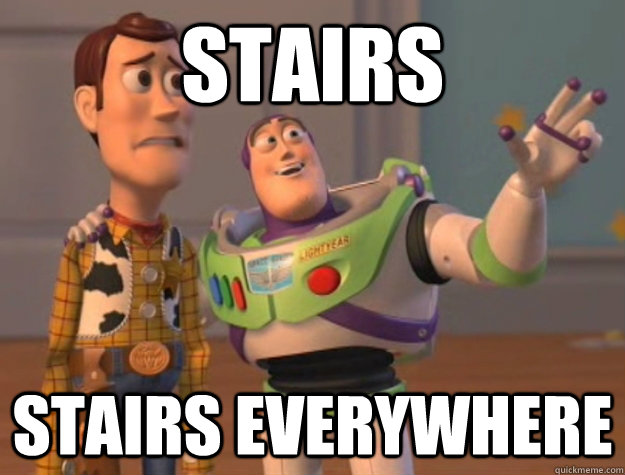 stairs stairs everywhere - Buzz Lightyear