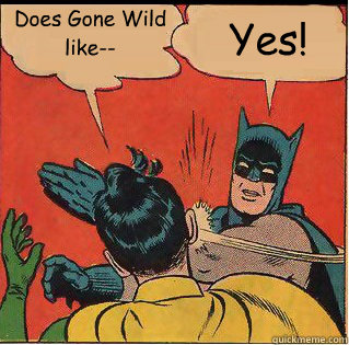 does gone wild like yes - Bitch Slappin Batman