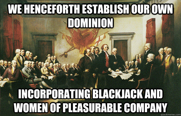 we henceforth establish our own dominion incorporating black -