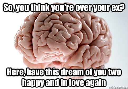 so you think youre over your ex here have this dream of  - Scumbag Brain