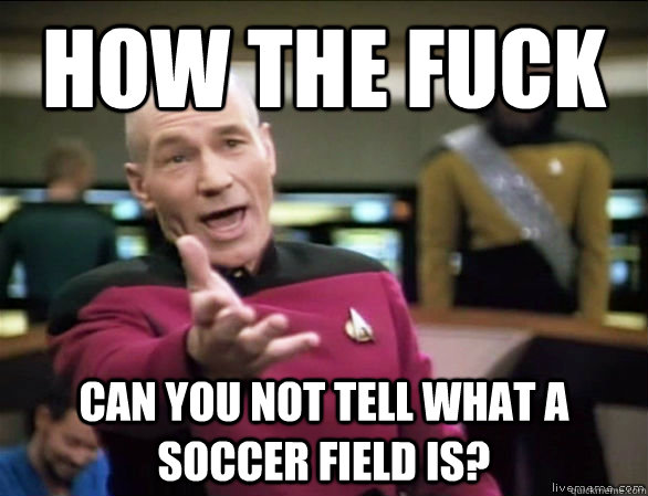 how the fuck can you not tell what a soccer field is - Annoyed Picard HD