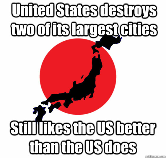 united states destroys two of its largest cities still likes - Good Guy Japan