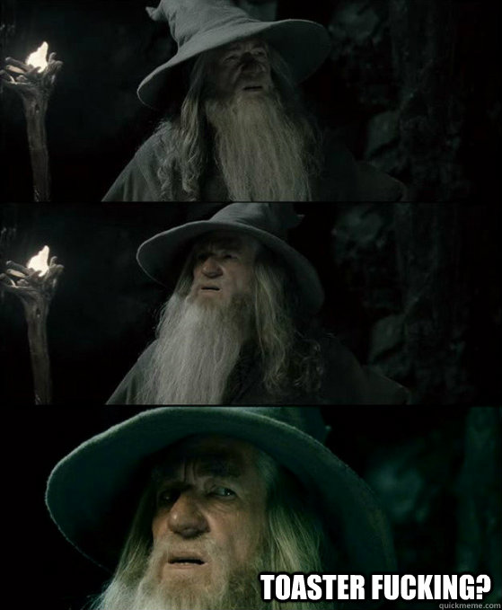 toaster fucking - Confused Gandalf