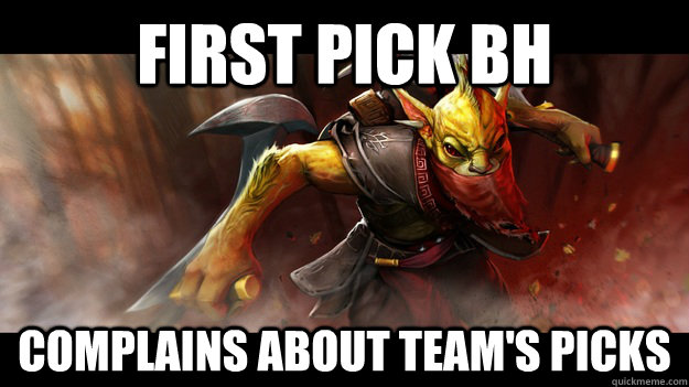 first pick bh complains about teams picks - Scumbag BountyHunter