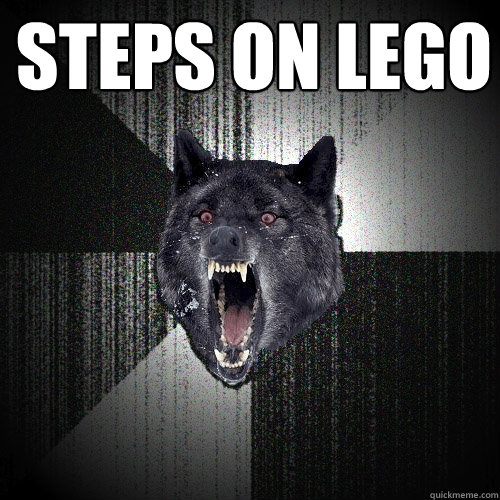 steps on lego - Insanity Wolf