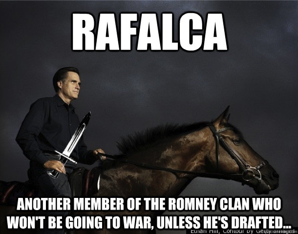 rafalca another member of the romney clan who wont be going - Mitt, Rafalca, Bayonets, and Horses