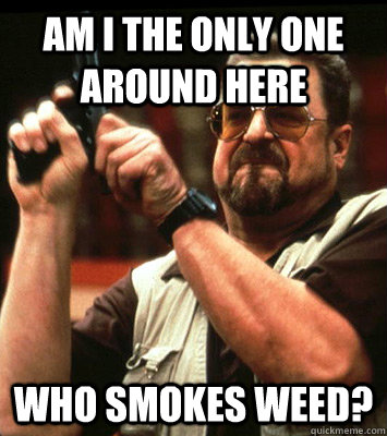 am i the only one around here who smokes weed - Angry walter