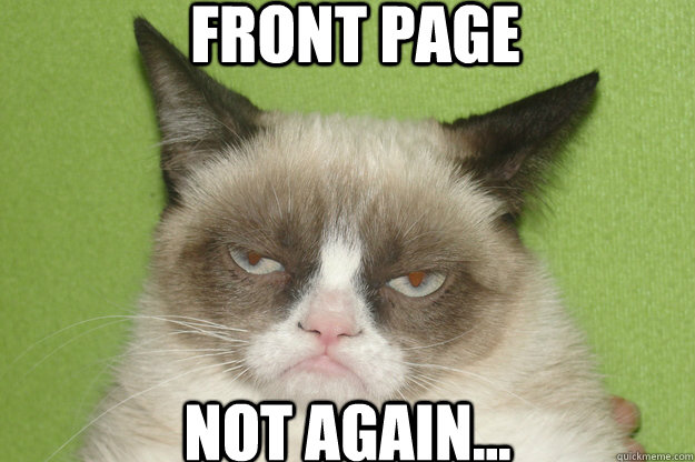 front page not again - GrumpyCat1
