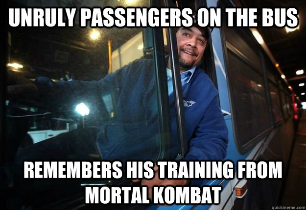 unruly passengers on the bus remembers his training from mor - Good Guy Bus Driver