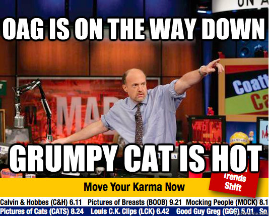 oag is on the way down grumpy cat is hot - Mad Karma with Jim Cramer