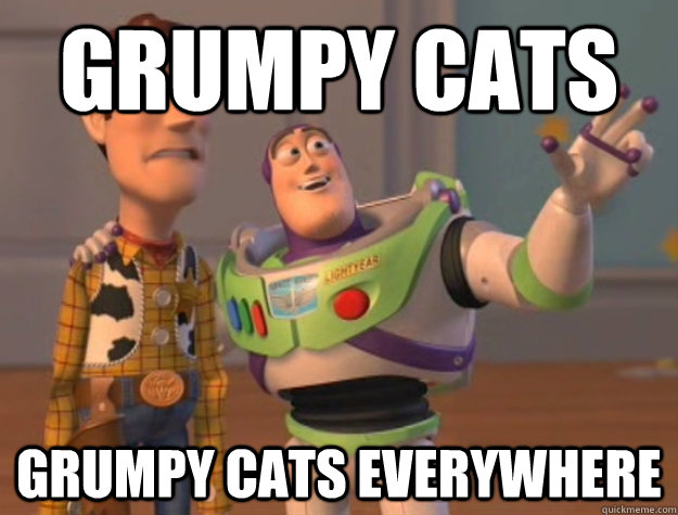 grumpy cats grumpy cats everywhere - Buzz Lightyear