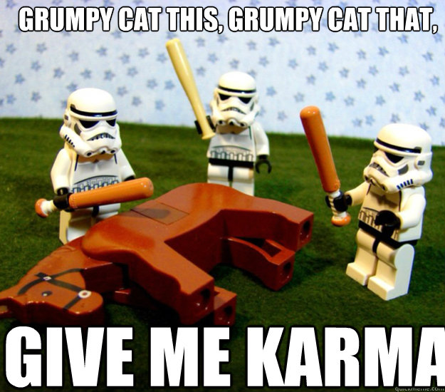grumpy cat this grumpy cat that give me karma - storm troopers