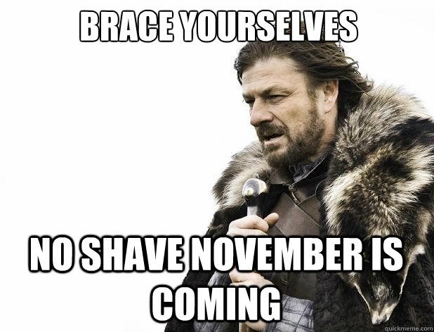 brace yourselves no shave november is coming - Brace Yourself